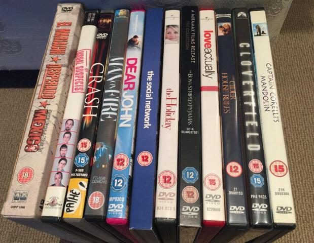 Movie / Film DVD's for Sale including The Holiday, Love Actually & Captain Corelli's Mandolin