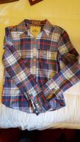 Hollister mens blue red checked shirt L