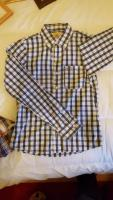 Hollister mens blue white checked shirt M