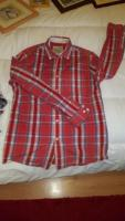 Jack Wills mens red blue checked shirt S