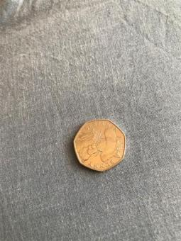 Benjamin bunny 50p coin Rare collection