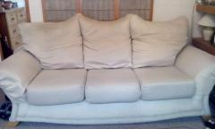 3 Seater Sofa and Chair beige