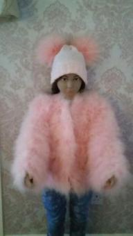 age 4/5 years ostrich fur coat nwt