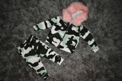 baby girls 3/6 montha urban fur hooded tracksuit nwt