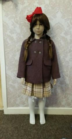 age 4/5 years wool jacket and skirt