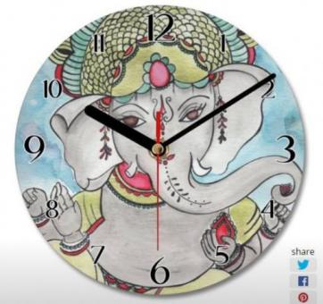 Original Art Designed Ganesha Clock