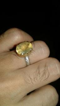 Vintage African Yellow Sapphire