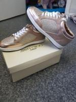 Gold Jimmy choo trainers