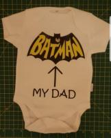 Personalised baby vests and t-shirts