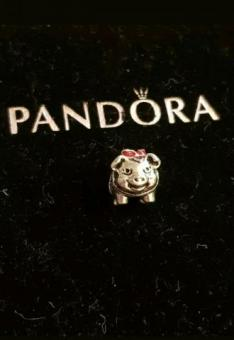 pandora pig new year 2019 animal piggy bank red bow charm