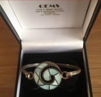 Ladies Rigid Swirl Bangle New in Box