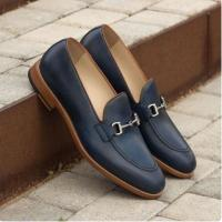 handmade leather moccasin shoe for men's