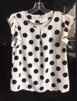 Polka dot top size 10-12 excellent condition