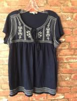 Ladies Navy Top Size 18 Excellent Condition