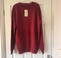 Ladies Red Cotton Traders Jumper Size XL NWT (postage available)