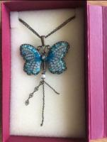 "Butterfly Pendant on 18"" Chain in Original Box (postage available)"