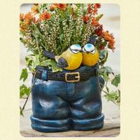 Jeans Garden Planter With Birds