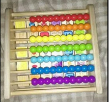 2 in 1 Wooden Double Sided Alphabet Abacus