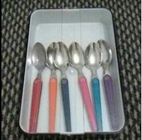 6 x Coloured Teaspoons