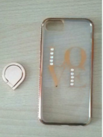 Gold Clear Love Phone Case