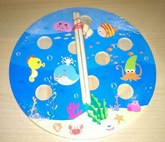 Fish toy hook game
