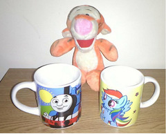 Tigger Toy and Kids Mugs