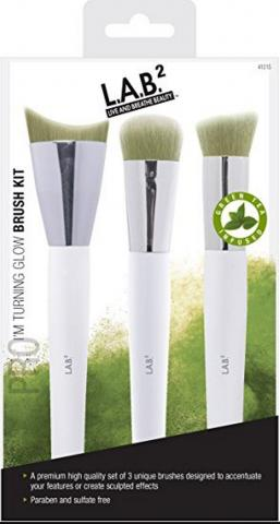 3 Piece green tea infused brush set