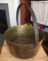 Vintage brass coal bucket