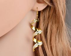 spiral design earrings new