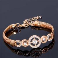 Luxury Round CZ Zircon Fashion Party Charm Bracelets & Bangles Gold Color