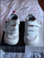 Girls white infant Adidas trainers size 5