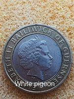 2 pounds coin bailiwick of jersey cross 1998.