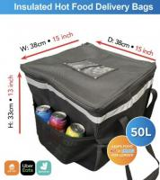 Hot food delivery bag fully insulated 50L