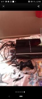 PS3 console with cables and control with 45 games bundle