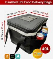 Hot food delivery bag fully insulated 40L