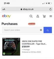 XBOX ONE RAPID FIRE CONTROLLER - Tiger Skull Blackout - Legacy Mod