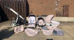 Pink baby style prestige 3 in 1 travel system