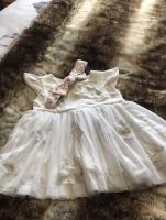 Mothercare white dress, size 1-3months.