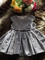 Mothercare striped dress size 9-12months.