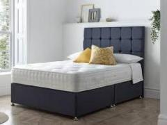 ????????????HURRY SALE Crushed Velvet Divan Bed Sets with Ortho Memory Mattress and Headboard???????