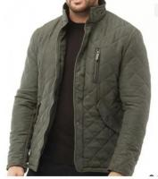 Feraud Mens Prima Full Zip Funnel Neck Quilted Jacket Olive. Chest: 40-42. New.