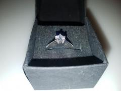 0.40 ct diamond ring set in a sterling silver ring