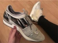 Silver Sparkly Runners