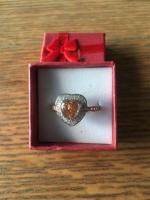 Silver 925 Stamped Morganite Ring Size U New in Box