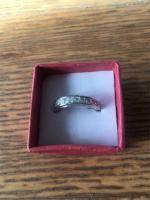 Silver 925 Stamped White Topaz Sizes P&Q New in Box
