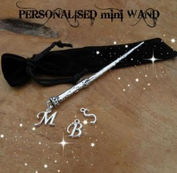 personalised mini wands with initial