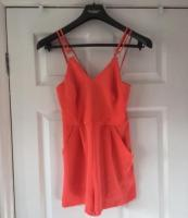 Coral Playsuit Size 6 Excellent Condition (postage available)