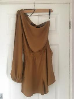 Ladies Mustard Playsuit Size 10 NWT (postage available)