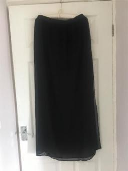 Sheer Ankle Length Skirt Size 14 Excellent Condition (postage available)