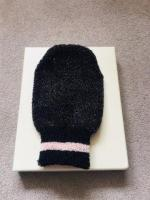 Black Egyptian Cotton Exfoliating Shower Mitt New